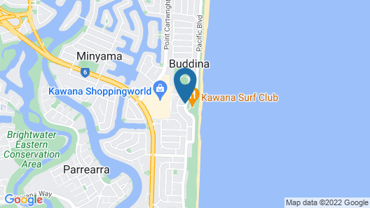 Beachside Resort - Kawana Waters Map