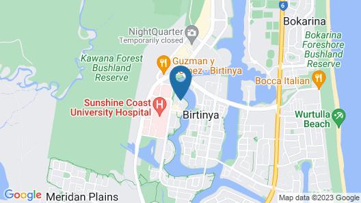 Direct Hotels - North Shore Kawana Map