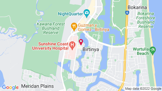 Mercure Sunshine Coast Kawana Waters Map