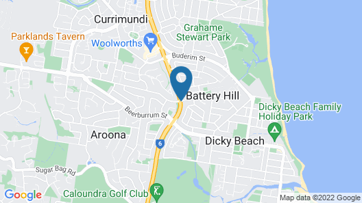 Caloundra Central Apartment Hotel Map