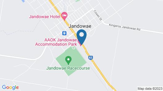AAOK Jandowae Accommodation Park Map