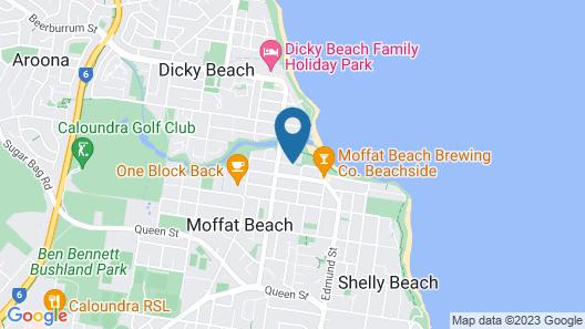 Raintrees on Moffat Beach Map
