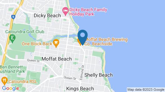 Norfolks on Moffat Beach Map