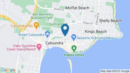 Caloundra City Centre Motel Map