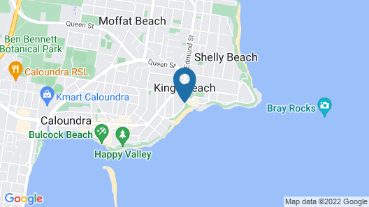Casablanca Beachfront Holiday Apartments Map
