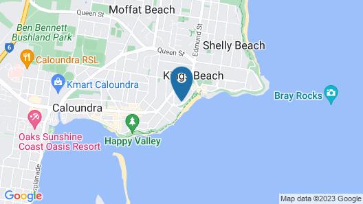 Capeview Apartments Caloundra Map