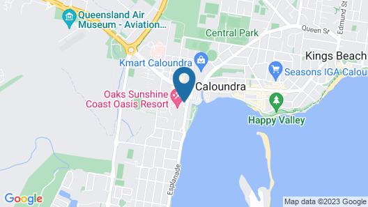 Oaks Sunshine Coast Oasis Resort Map