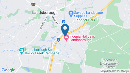 Ingenia Holidays Landsborough Map