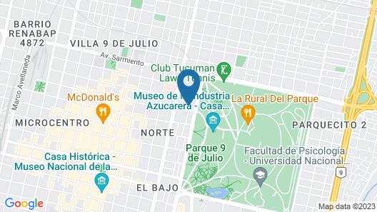 9 de Julio Park Suites Map