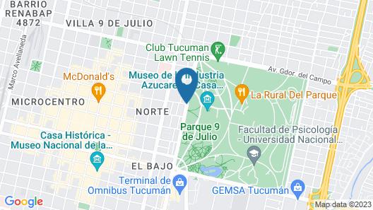Sheraton Tucuman Hotel Map