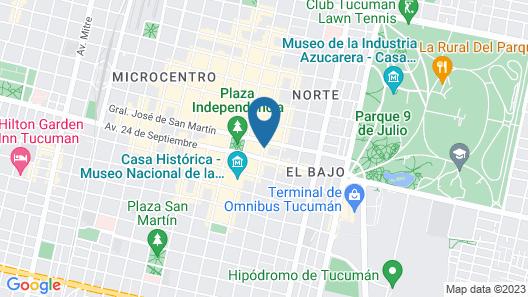 Hotel República Map
