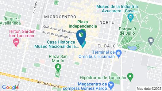 Hotel Francia Map