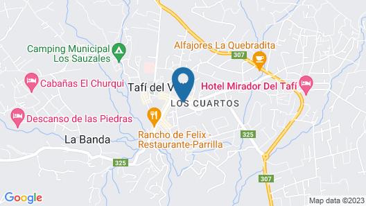 Hostería Lunahuana Map