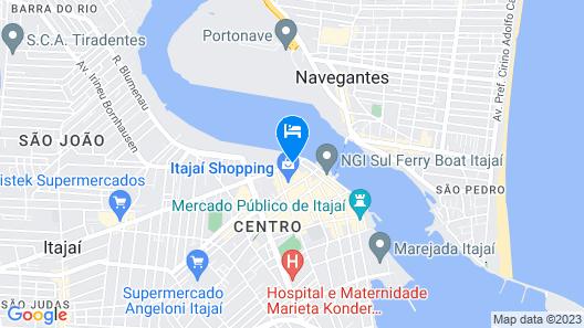 Hotel Valerim Itajaí Map