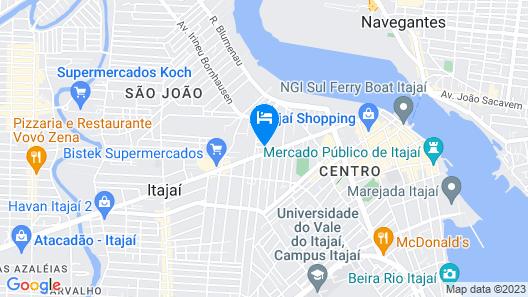 Hotel Itajaí Tur Map