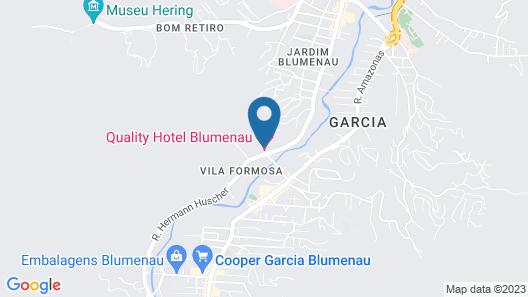 Quality Hotel Blumenau Map