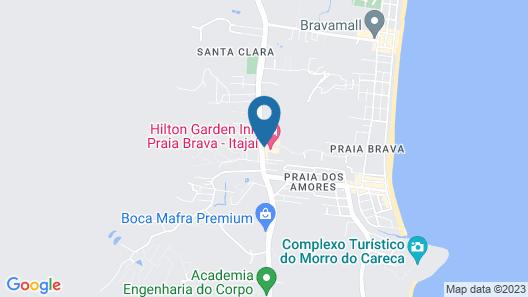 Hilton Garden Inn Itajaí - Praia Brava Map