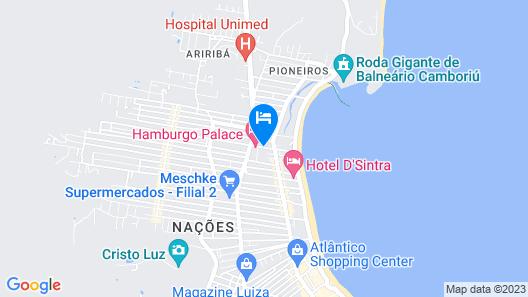 BRUT by Slaviero Hotéis Map