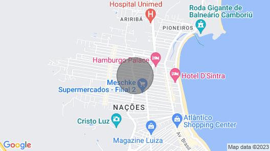 For rent house for season - Balneário Camboriú Map