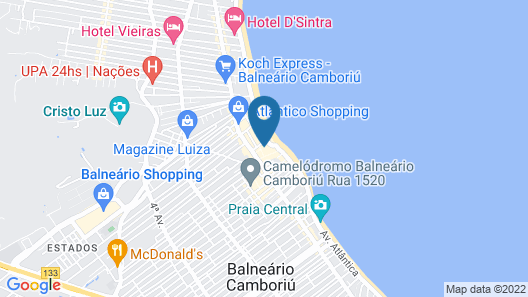 Mercure Camboriu Hotel Map