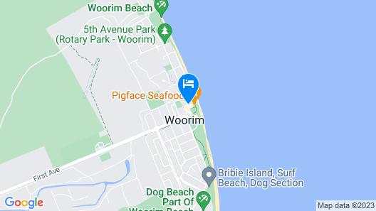 On the Beach Resort Bribie Island Map
