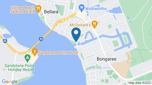 Bribie Waterways Motel Map