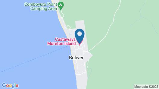 Castaways Moreton Island Map