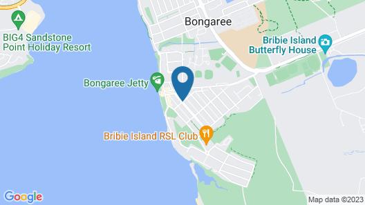 Retro Beach Flat Map