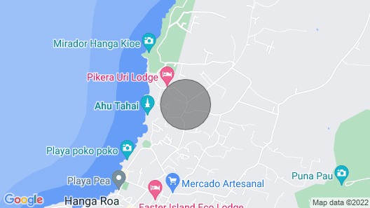 Casa Cabañas Manuto Tahai Map