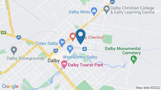 Dalby Apartments Self Contained Motel Map