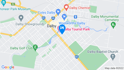 Dalby Tourist Park Map