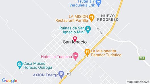 La Martina Apart & Hotel Map