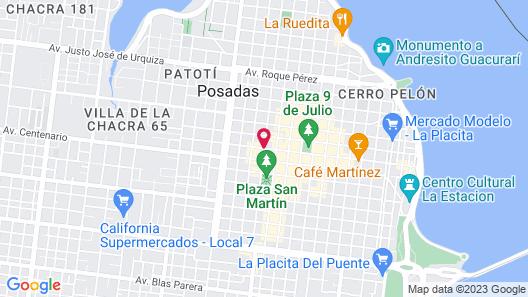 Hotel Urbano Posadas Map