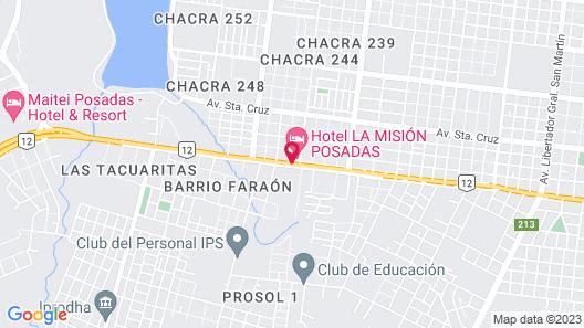 La Mision Posadas Hotel  Map