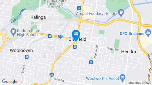 Airport Clayfield Motel Map