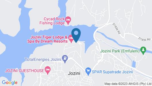Jozini Tiger Lodge Map