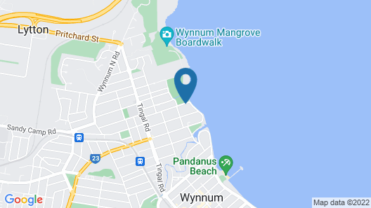 Wynnum Anchor Motel Map