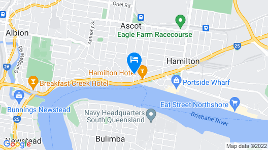 Riverview Motel Brisbane Map
