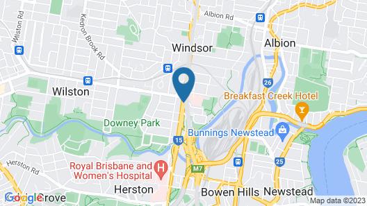 Ramada by Wyndham Brisbane Windsor Map