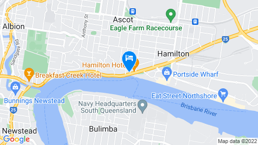 Hamilton Motor Inn Map