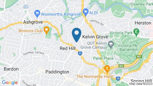 Plantation Red Hill Brisbane Map