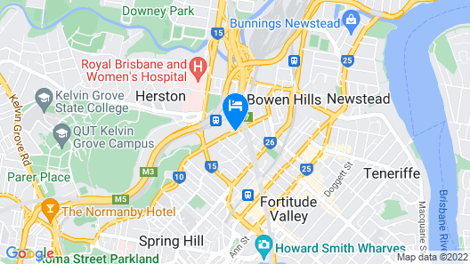 Rydges Fortitude Valley Map