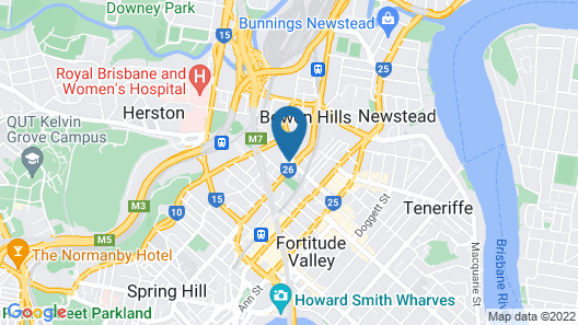 Homely Apartment at Fortitude Valley Map