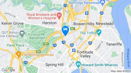 Brisbane Manor Hotel Map