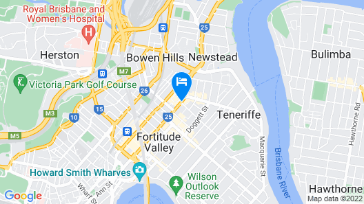 Ovolo The Valley Brisbane Map