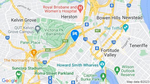 Best Western Gregory Terrace Brisbane Map