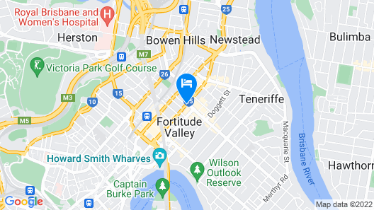 Alpha Mosaic Hotel Fortitude Valley Map