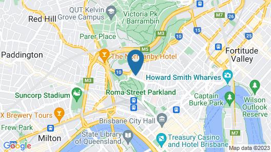 The Park Hotel Brisbane Map