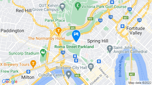 The Park Hotel Brisbane Map