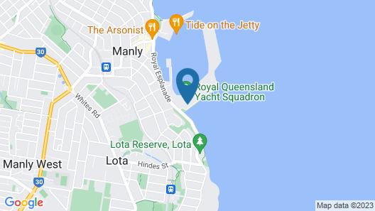 Manly Marina Cove Motel Brisbane Map
